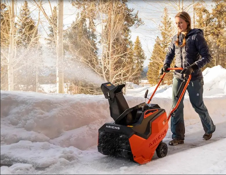 Use the snowblower with care.