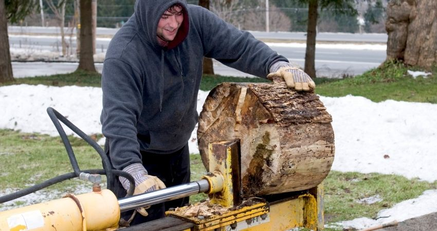 Log splitter size