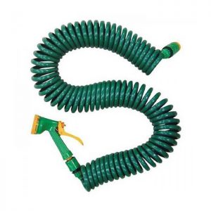 What is a coiled garden hose
