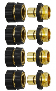 HQMPC Garden Hose Quick Connect Solid Brass Quick Connector Garden Hose Fitting Water Hose Connectors